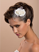 cheap Mother of the Bride Dresses-Tulle / Crystal / Fabric Tiaras / Fascinators / Flowers with 1 Wedding / Special Occasion / Party / Evening Headpiece