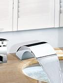 halpa Märkäpuvut, sukelluspuvut ja suoja-asut-Ammehana - Nykyaikainen Kromi Roomalainen kylpyamme Keraaminen venttiili Bath Shower Mixer Taps / Kaksi kahvaa kolme reikää