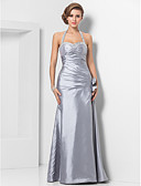 cheap Cocktail Dresses-Sheath / Column Sweetheart Neckline Floor Length Taffeta Prom / Formal Evening Dress with Beading / Ruched by TS Couture®
