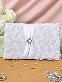 preiswerte Hochzeitskleider-Gästebuch Satin Blumen / Klassisch Mit Blütenblätter
