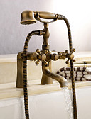 cheap Wedding Wraps-Shower Faucet / Bathtub Faucet - Antique Antique Brass Tub And Shower Ceramic Valve Bath Shower Mixer Taps
