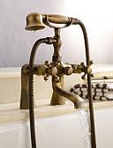 hesapli Smartwatch Bantları-Duş Musluğu / Küvet Muslukları - Antik Antik Pirinç Küvet ve Duş Seramik Vana Bath Shower Mixer Taps