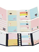 ieftine Bluză-set de desene animate nota pliere auto-stick (culoare aleatorii)