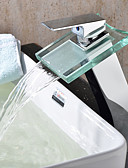 Χαμηλού Κόστους Βραδινά Φορέματα-Μπάνιο βρύση νεροχύτη - Καταρράκτης Χρώμιο Δοχείο Μία Οπή Ενιαία Χειριστείτε μια τρύπα