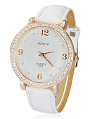 baratos Quartz-Mulheres Relógio de Pulso Japanês imitação de diamante PU Banda Brilhante / Fashion Branco / Um ano / SSUO SR626SW