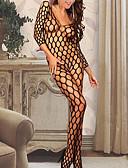 olcso Divatos fehérnemű-Női Ultra szexi Hálóruha - Nyomtatott, Egyszínű
