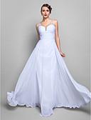 Χαμηλού Κόστους Βραδινά Φορέματα-Γραμμή Α Λαιμόκοψη V Μακρύ Σιφόν Ανοικτή Πλάτη Χοροεσπερίδα / Επίσημο Βραδινό Φόρεμα με Χάντρες / Χιαστί / Πιασίματα με TS Couture®
