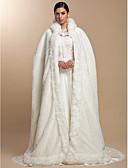Χαμηλού Κόστους Λουλουδάτα φορέματα για κορίτσια-Μακρυμάνικο Ψεύτικη Γούνα Πάρτι / Βράδυ Αναδιπλώνει Γάμου / Γούνινες Εσάρπες / Κουκούλες & Πόντσο Με Κάπες