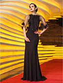 povoljno Večernje haljine-Sirena kroj Ovalni izrez Jako kratki šlep Žersej Celebrity Style / Vintage inspirirano Formalna večer Haljina s Cvijet po TS Couture®