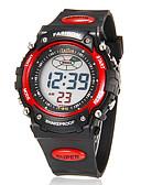 preiswerte Sportuhr-Herrn digital Digitaluhr Armbanduhr Alarm Kalender Chronograph LCD Caucho Band Charme Schwarz
