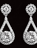 cheap Wedding Veils-Women's Cubic Zirconia Drop Earrings - Classic For Party