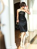 رخيصةأون فساتين حفلات-عامودي بدون حمالات طول الركبة ستان مطاطي حفلة كوكتيل فستان مع متصالب بواسطة TS Couture®