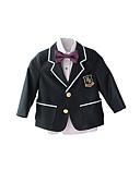 levne Pro malé družby-Černá / Rubínově červená / Fialová Polyester Oblek pro mládence - 4 Obsahuje Sako / Vesta / Kalhoty