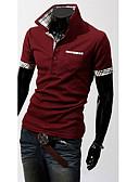 cheap Men's Shirts-Men's Weekend Active Cotton Slim Polo - Solid Shirt Collar
