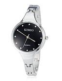 preiswerte Modische Uhren-Damen Armbanduhr Quartz Armbanduhren für den Alltag Edelstahl Band Analog Armreif Modisch Silber - Weiß Schwarz