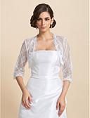 ieftine Bolerouri de Nuntă-Dantelă Nuntă Petrecere / Seară Casual Wraps de nunta Paltoane / Jachete