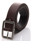 cheap Fashion Belts-Men's Work Active Basic Leather Buckle - Solid Colored