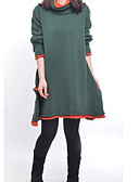 cheap Women's Outerwear-Women's Street chic Loose Dress - Solid Colored, Layered