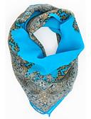 olcso Női sálak-Női Nyomtatott Sifon, Party Munkahelyi - Négyzet