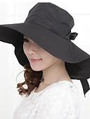 baratos Chapéus de Moda-Mulheres Férias Poliéster, Chapéu de sol Sólido