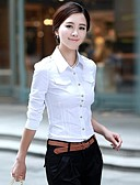 povoljno Ženski dvodijelni kostimi-Majica Žene Formalan Pamuk Jednobojni Kragna košulje
