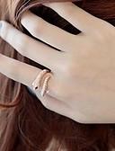 tanie Odzież nocna damska-Damskie Pierścień oświadczenia - Kryształ, Stop Moda Regulowany Srebrny / Złota Na Ślub Impreza Codzienny