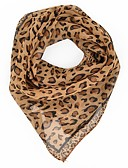 cheap Fashion Scarves-Women's Cute Party Work Chiffon Square - Leopard, Print
