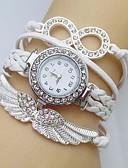 cheap Women's Blazers & Jackets-Women's Bracelet Watch / Simulated Diamond Watch Wing / Imitation Diamond Leather Band Sparkle / Bohemian / Fashion White / Blue / Red / One Year / Jinli 377