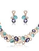 ieftine Salopete Damă-Set bijuterii Σκουλαρίκια / Coliere - European Curcubeu Seturi de bijuterii Pentru Nuntă / Petrecere / Zi de Naștere