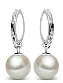 abordables Vestidos de Niña Florista-aleación de mujer 12mm perla natural pendientes estilo femenino clásico