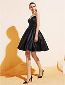 preiswerte Cocktailkleider-Ballkleid / Leger & Aufgebauscht V-Ausschnitt Knie-Länge Jersey Kleines Schwarzes Kleid Cocktailparty Kleid mit Schärpe / Band / Tasche durch TS Couture®