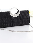 cheap Women's Dresses-Women's Bags Silk Evening Bag Crystal / Rhinestone White / Black / Fuchsia