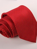 זול עניבות ועניבות פרפר לגברים-עניבת צווארון - אחיד מסיבה / עבודה בגדי ריקוד גברים