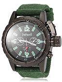 cheap Men's Watches-JUBAOLI Men's Quartz Wrist Watch Military Watch Hot Sale Fabric Band Charm Black Red Green