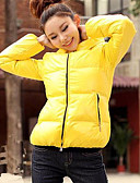 olcso Női felsőruházat-Női Alap Kabát Egyszínű