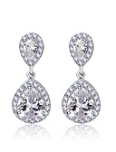 cheap Wedding Dresses-Women's Cubic Zirconia Stud Earrings - Drop Classic For Party