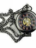 abordables Relojeses Mecánicos-Hombre Reloj de Bolsillo Huecograbado Aleación Banda Vintage Negro / Cuerda Manual