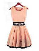 hesapli Kadın Elbiseleri-Kadın's A Şekilli Elbise - Zıt Renkli Mini