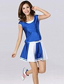 cheap Women's Skirts-Cheerleader Costumes Outfits Women's Training Performance Cotton Polyester Short Sleeve Natural