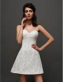 povoljno Vjenčanice-A-kroj Srcoliki izrez Kratki / mini Til Izrađene su mjere za vjenčanja s Aplikacije po LAN TING BRIDE® / Male bijele vjenčanice