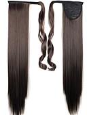זול שמלות נשים-חום כהה ישר קוקו סינטטי חתיכת שיער הַאֲרָכַת שֵׂעָר