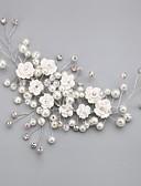 billige Nattøy til damer-krystall imitasjon perle legering blomster hodeplagg klassisk feminin stil