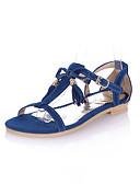 hesapli Kokteyl Elbiseleri-Kadın's Ayakkabı Yapay Deri Bahar / Yaz / Sonbahar Rahat Düz Taban Elbise / Ofis ve Kariyer için Toka Pembe / Mavi / Bej