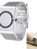 cheap Steel Band Watches-Men's Wrist Watch Quartz Casual Watch Stainless Steel Band Analog Elegant Unique Creative Watch Silver - White Black