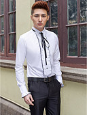 cheap Wedding Dresses-Men's Stylish / Classical / Basic Tailored Fit Shirt - Solid Colored
