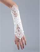 cheap Prom Dresses-Net / Cotton Wrist Length / Opera Length Glove Charm / Stylish / Bridal Gloves With Embroidery / Solid