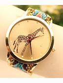 baratos Relógios da Moda-Mulheres Relógio de Pulso Lega Banda Amuleto / Fashion Azul / Dourada / Um ano