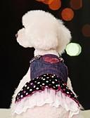 tanie Suknie i sukienki damskie-Psy Sukienka Ubrania dla psów Groszki / Jeansy Niebieski Bawełna Kostium Dla zwierząt domowych Lato Damskie Cosplay