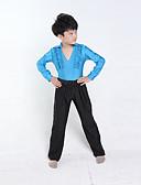 hesapli Latin Dans Giysileri-Latin Dansı Kıyafetler Eğitim / Performans Polyester Uzun Kollu Doğal Top / Pantalonlar