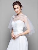 Χαμηλού Κόστους Γαμήλιες Εσάρπες-Τούλι Γάμου / Πάρτι / Βράδυ Αναδιπλώνει Γάμου Με Κοντή Κάπα